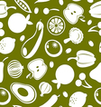fruit and vegetables seamless background vector image