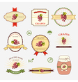 Grapes a set of label design and templates vector image