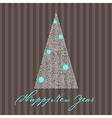 greeting card with new year tree vector image