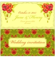 Poppy flower Wedding Invitation Vintage Elegant vector image