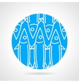 Sea fish blue round icon vector image