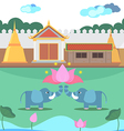 Thai tample vector image
