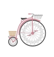 Retro bicycle in flat style vector image