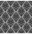 vintage black lace floral pattern on white vector image vector image