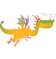 Cartoon dragon fly vector image vector image