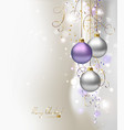 light Christmas background vector image vector image
