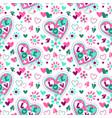 cute girlish seamless pattern vector image