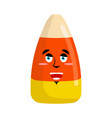 Candy corns happy emoji sweet emotion merry vector image