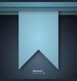 Paper cut design concept for flyers presentations vector image