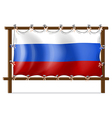A frame with the flag of Russia vector image vector image