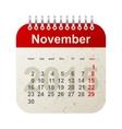calendar 2015 - november vector image