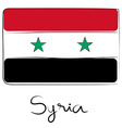 Syria flag doodle vector image