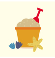Cute beautiful Sand pail isolated on yellow vector image vector image