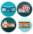Shop Flat Set vector image