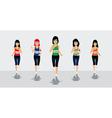 Female Runners vector image