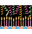 birthday candles on cake vector image vector image