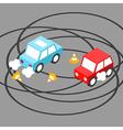 Drift car isometric vector image