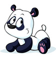 cute Chinese panda bear isolated on white vector image