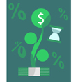 Growing money over time concept vector image