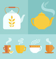set of icons and in flat style vector image