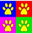 Set of of pug marks signs vector image