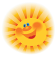 The stylized image of a smiling sun vector image