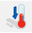 thermometer with low temperature isometric icon vector image