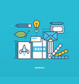 branding and corporate identity as well tools vector image