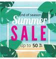 summer sale discount end of season banner vector image