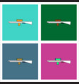 flat icon design collection military sniper rifle vector image vector image