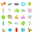 eco care icons set cartoon style vector image