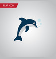 isolated dolphin flat icon playful fish vector image