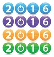 2016 colored set vector image