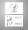 gourmet food logo vector image