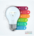 lightbulb with elements for infographic vector image