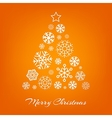 Christmas tree from white snowflakes on vector image vector image