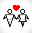 love sign vector image vector image