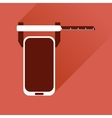 Flat web icon with long shadow mobile settings vector image