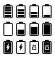 Battery Black Icons vector image