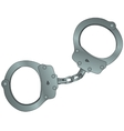 cartoon police handcuffs vector image
