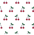 Cherry line icon seamless pattern vector image
