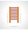 Gym flat color design icon vector image