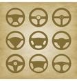 handlebars automotive icons Steering Wheel vector image