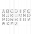 Thin line font Latin alphabet on white background vector image