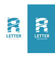 unique letter r logo design template vector image