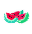 watermelon slices painted vector image