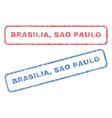 brasilia sao paulo textile stamps vector image