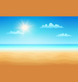 tropical beach in sunny day vector image
