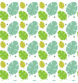 green tree leaves seamless pattern abstract vector image