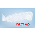 First aid bacgkround with bandage vector image vector image